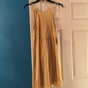 Yellow floral spaghetti straps dress